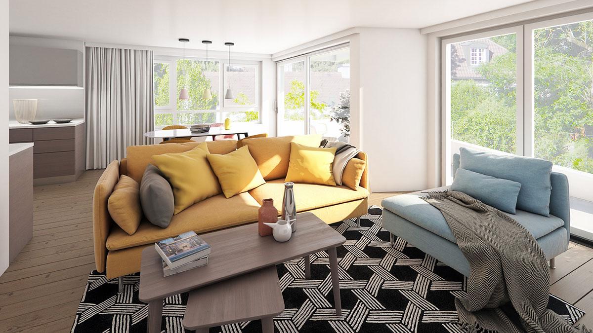 3-Zimmer-Wohnung - Objekt 322-1