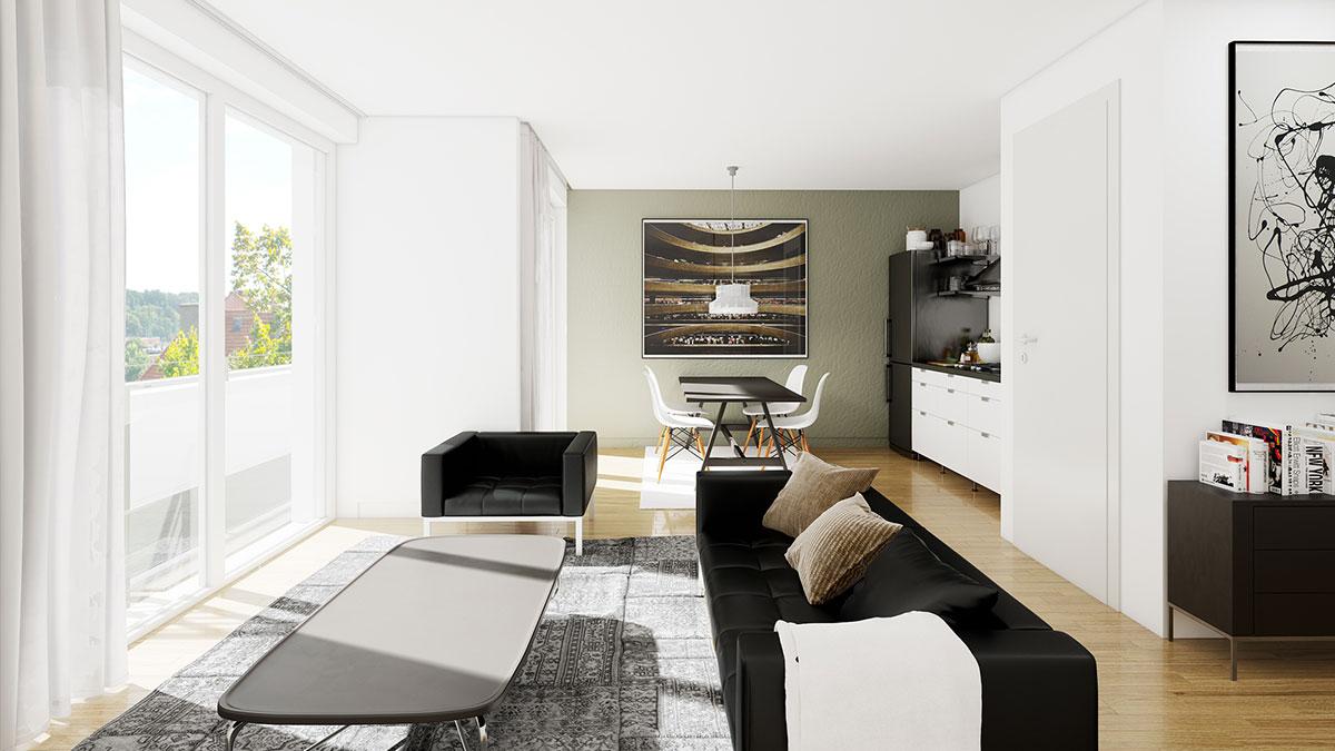 2,5-Zimmer-Wohnung - Objekt 320-5